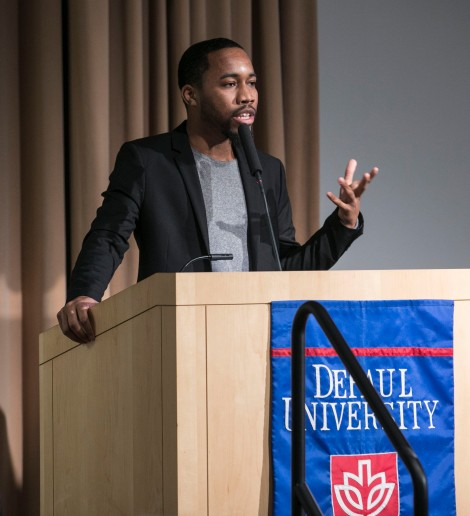 Michael Lynch, president of DePaul's Student Government Association.