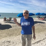 William Windisch (BUS '54) on the beach in Naples, Fla.