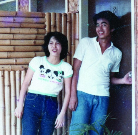 Photo of Graduate students Josephine King and Gabriel Esteban in 1983.