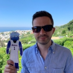 Kevin O'Brien (CMN '11) and Dibs in Anacapri, Italy