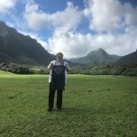 Alison Strickland Kaveckas (SCPS '16) at the Kualoa Ranch on the island of Oahu in Hawaii