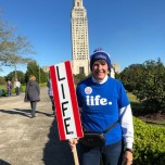 Mallory Pollard (CSH '71) at the March for Life in Baton Rouge, La.